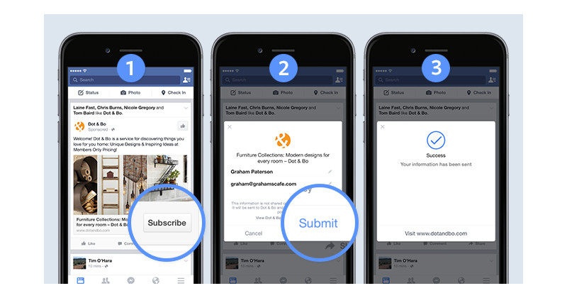 Facebook Potansiyel Müşteri Formu